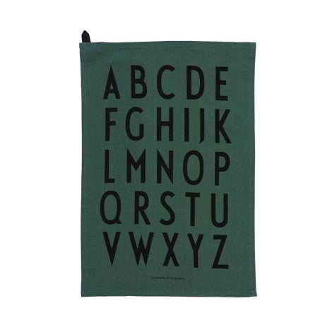 Design Letters Geschirrtuch Dark Green 2er-Set