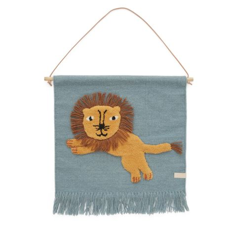 OYOY Jumping Lion Wanddeko Tourmaline