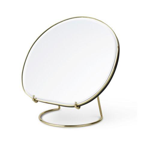 ferm LIVING Tischspiegel Pond Brass