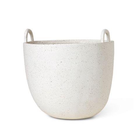 ferm LIVING Gefäß Speckle Pot Off-White Large