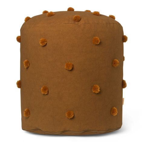 ferm LIVING Pouf Dot Tufted Sugar Kelp Mustard