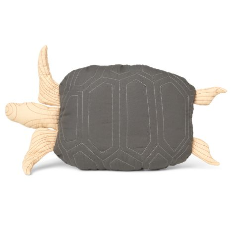 ferm LIVING Kissen Turtle Quilted Deep Forest