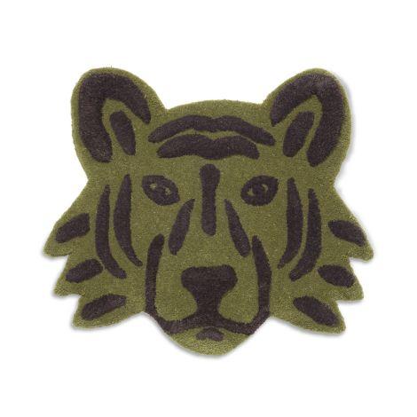 ferm LIVING Tiger Kopf getuftet Green