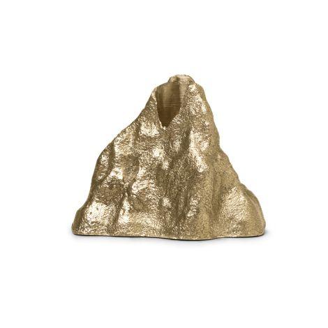ferm LIVING Kerzenhalter Stone Small Brass