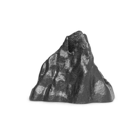 ferm LIVING Kerzenhalter Stone Small Black Aluminium