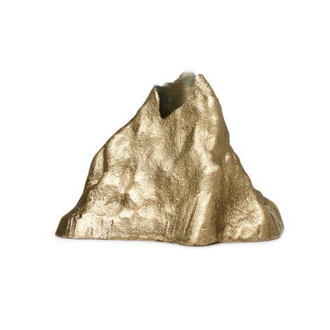ferm LIVING Kerzenhalter Stone Large Brass