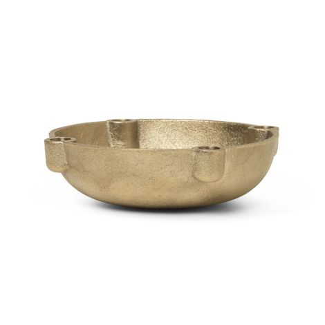 ferm LIVING Kerzenhalter Bowl Casted Brass