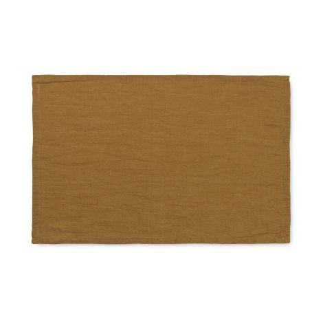 ferm LIVING Platzset Linen Cinnamon 2er-Set