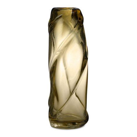 ferm LIVING Vase Water Swirl Tall Light Yellow