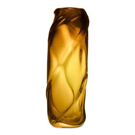 ferm LIVING Vase Water Swirl Tall Amber