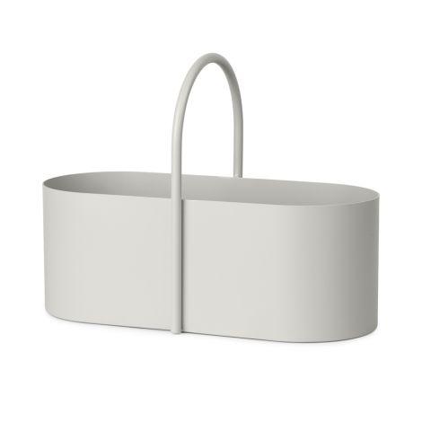 ferm LIVING Aufbewahrungskorb Grib Toolbox Light Grey