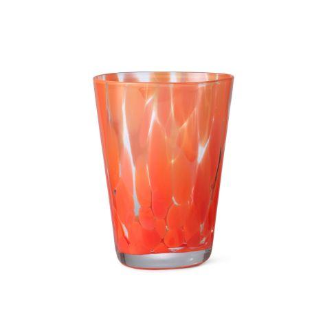 ferm LIVING Glas Casca Poppy Red