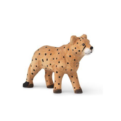 ferm LIVING Tierfigur handgeschnitzt Cheetah