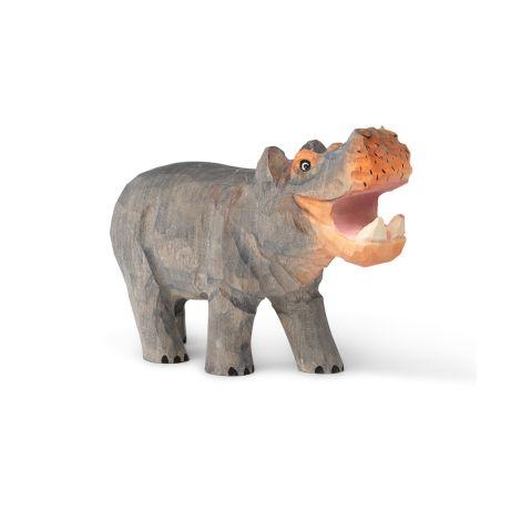 ferm LIVING Tierfigur handgeschnitzt Hippo