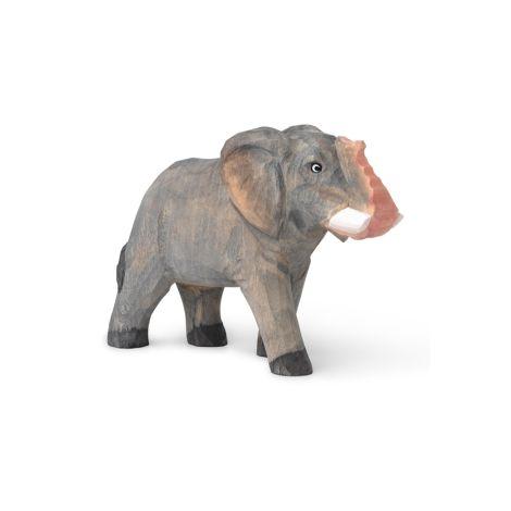 ferm LIVING Tierfigur handgeschnitzt Elephant