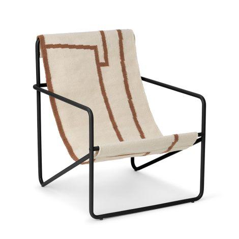 ferm LIVING Kinderstuhl Desert Chair Black/Shape