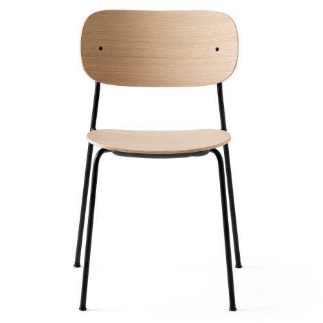 Menu Co Chair Stuhl Black Steel Base Natural Oak Seat