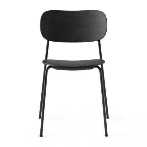 Menu Co Chair Stuhl Black Steel Base Black Oak Seat