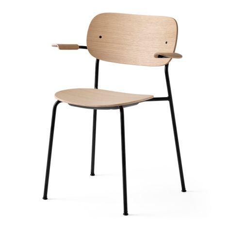 Menu Co Chair Stuhl Black Steel Base/Natural Oak Armlehne