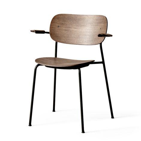 Menu Co Chair Stuhl Black Steel Base/Dark Stained Oak Armlehne