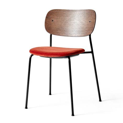 Menu Co Chair Stuhl Black Steel Base/Velvet/Dark Stained Oak