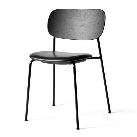 Menu Co Chair Stuhl Black Steel Base Leather/Black Oak