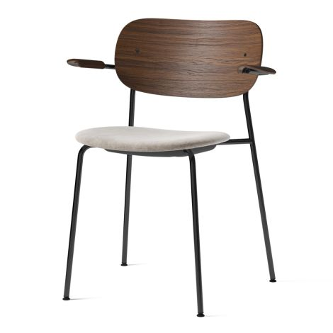 Menu Co Chair Stuhl Black Steel Base/Maple Armlehne