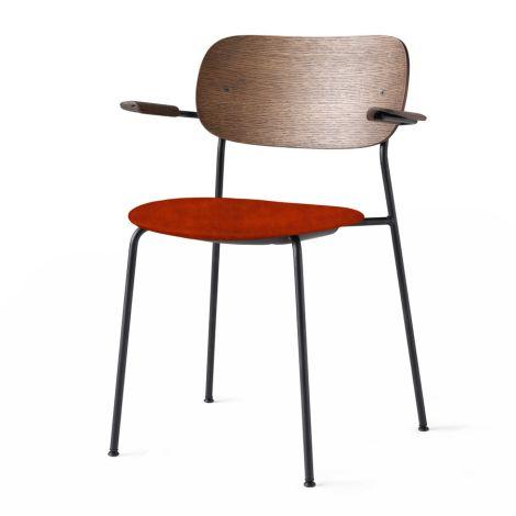 Menu Co Chair Stuhl Black Steel Base/Velvet Armlehne