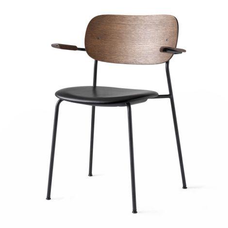 Menu Co Chair Stuhl Black Steel Base/Leater Dakar Armlehne