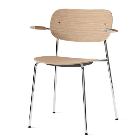 Menu Co Chair Stuhl Armlehne Chrome/Natural Oak