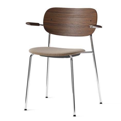 Menu Co Chair Stuhl Armlehne Chrome/ Dark Stained Oak/Lupo Sand