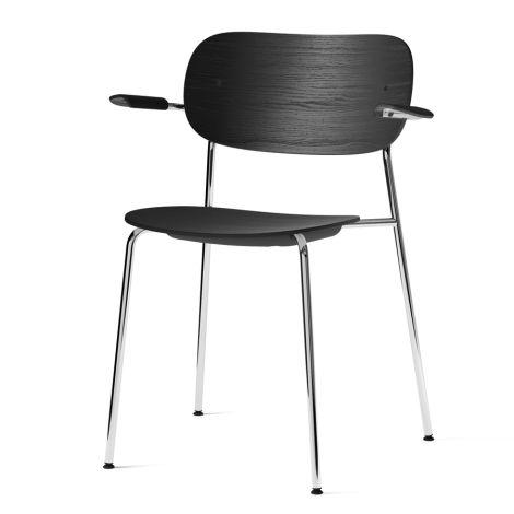 Menu Co Chair Stuhl Armlehne Chrome/Black Oak