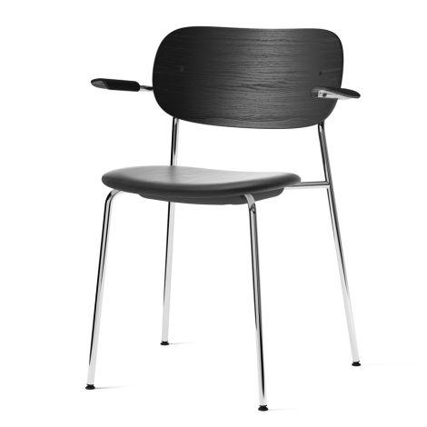 Menu Co Chair Stuhl Armlehne Chrome/Black Oak/Dakar