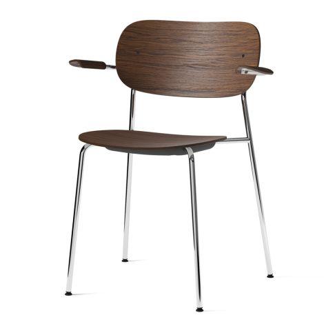 Menu Co Chair Stuhl Armlehne Chrome/Dark Stained Oak