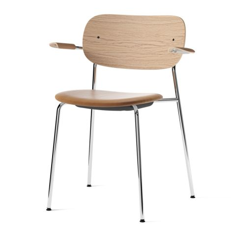 Menu Co Chair Stuhl Armlehne Chrome/Natural Oak/Dakar
