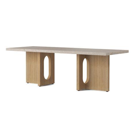 Menu Androgyne Tisch Lounge Table 120x45 cm Natural Oak Gestell Kunis Breccia Sand Tischplatte
