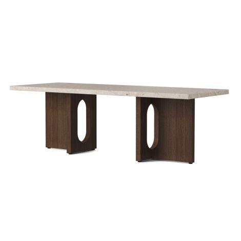 Menu Androgyne Tisch Lounge Table 120x45 cm Dark Stained Oak Gestell Kunis Breccia Sand Tischplatte