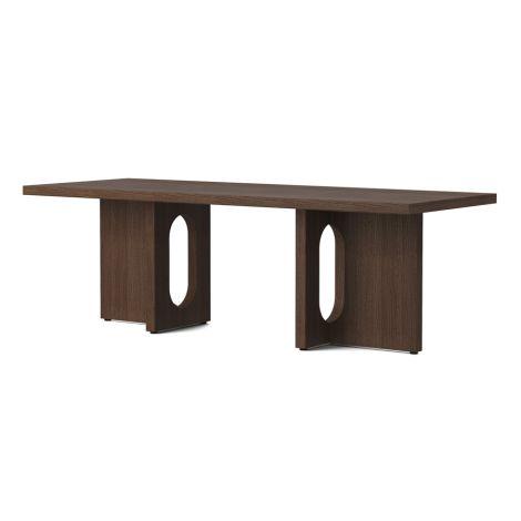 Menu Androgyne Tisch Lounge Table 120x45 cm Dark Stained Oak Gestell Dark Stained Oak Tischplatte