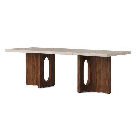 Menu Androgyne Tisch Lounge Table 120x45 Walnut Gestell Kunis Breccia Sand Tischplatte