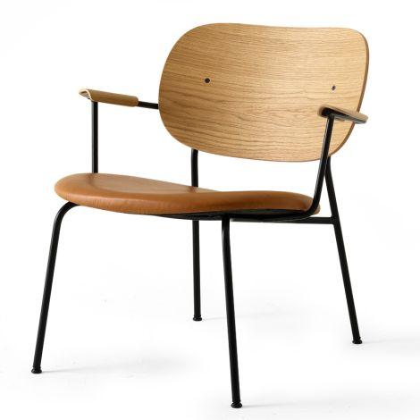 Menu Co Chair Stuhl Lounge Chair Black Base/Natural Oak/Dakar