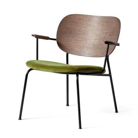 Menu Co Chair Stuhl Black Base/Dark Stained Oak/Velvet