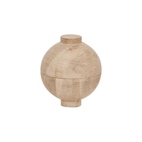 Kristina Dam Studio Aufbewahrungsgefäß Wooden Sphere Solid Oak