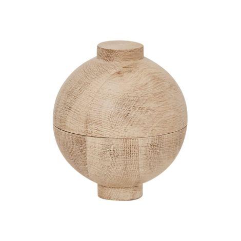 Kristina Dam Studio Aufbewahrungsgefäß Wooden Sphere Solid Oak XL