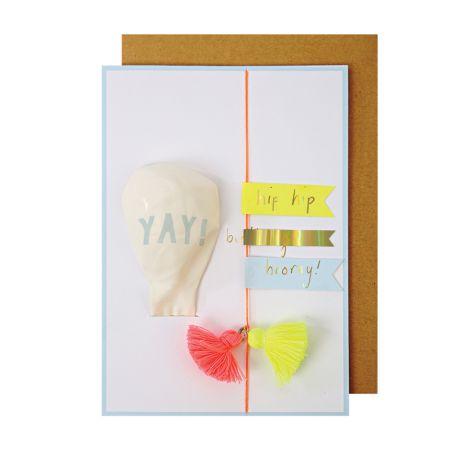 Meri Meri Postkarten Yay Balloon