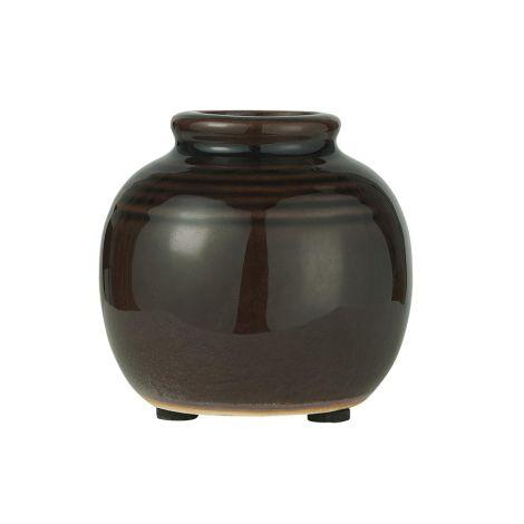 IB LAURSEN Vase Mini krakeliert Dunkel