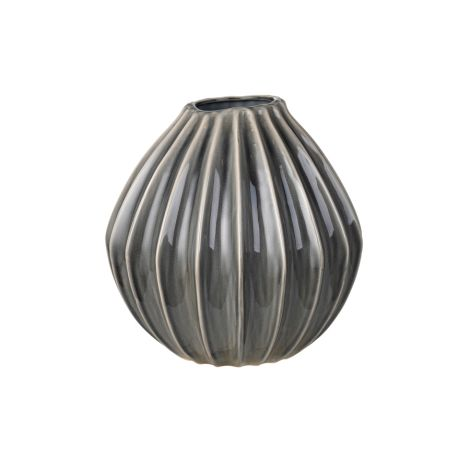 Broste Copenhagen Vase Wide Smoked Pearl L