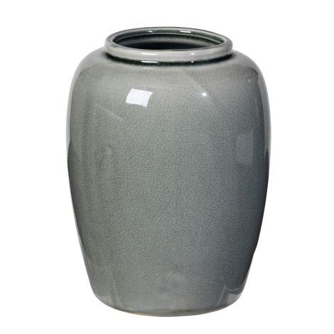 Broste Copenhagen Vase Crackle Thyme 20 cm