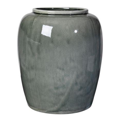 Broste Copenhagen Vase Crackle Thyme 36 cm