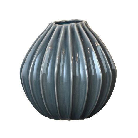 Broste Copenhagen Vase Wide Blue Mirage L