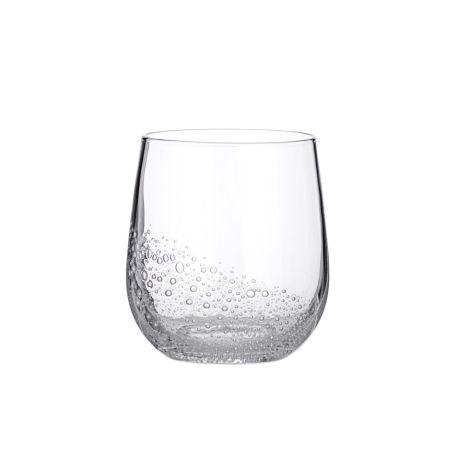 Broste Copenhagen Trinkglas Bubble Clear 350 ml
